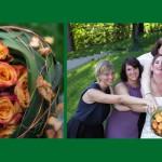 Braut mit ihren Mädels