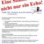 Köln Silvesternacht - laufendes Projekt